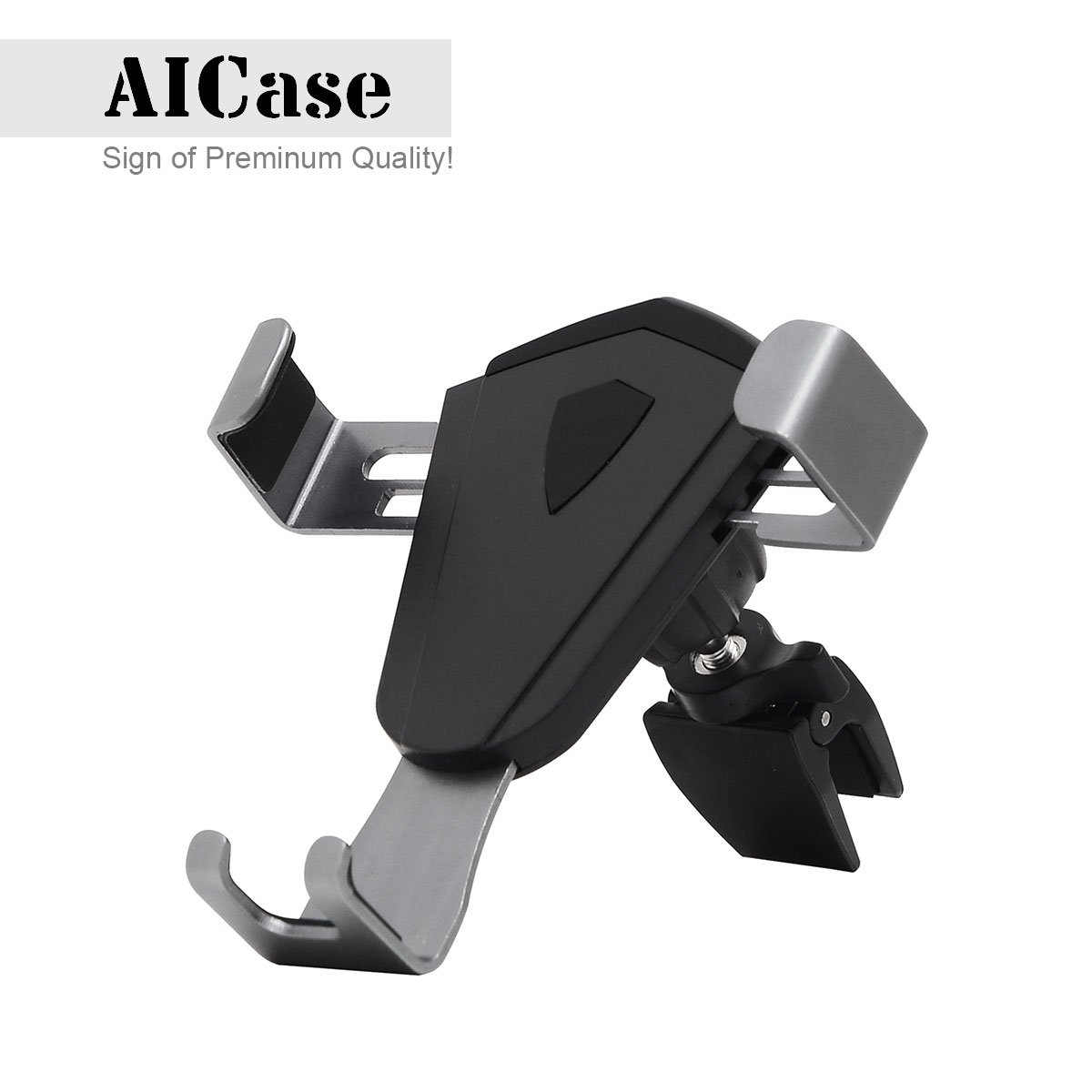 Car Phone Mount, AICase Dashboard & Windshield Car Mount Holder Strong Sticky Gel Pad with One-Touch Design Truly Universal[Compatible with Otterbox Defender Case] Auto Lock/Release(Dashboard)