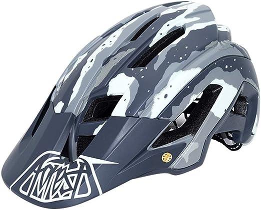 LERDBT Casco de Ciclismo Casco de Bicicleta de montaña Protección ...