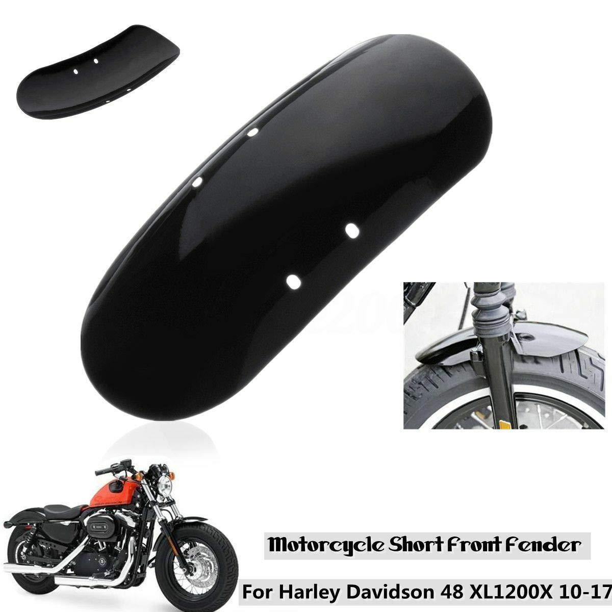 parafango Anteriore Corto in Metallo per Moto Harley Sportster 48 XL1200X 1200 2010 2017 RONSHIN