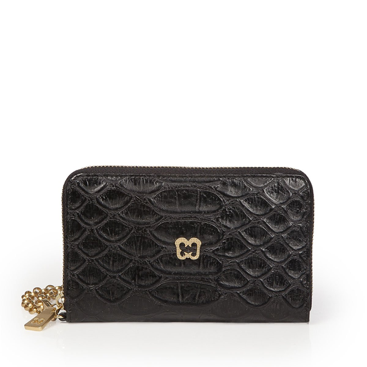 Eric Javits Luxury Fashion Designer Women's Handbag - Smartphone Wristlet - Black