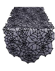 Perfect OurWarm Black Lace Spider Web Table Runner For Halloween Parties, Décor,  Dinners, 20 By 80 Inch