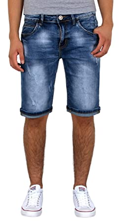super beliebt neuartiger Stil Schuhe für billige by-tex Herren Jeans Shorts Kurze Bermuda Shorts Used Look Kurze Hose Basic  Jeans Shorts AS430