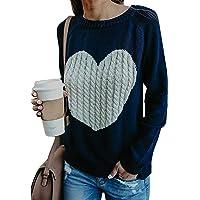 FGFD Mujer Sudaderas Básico Punto Suéter de Moda O-Cuello Otoño Invierno Oversize Jerseys Blusas Abrigo Tops