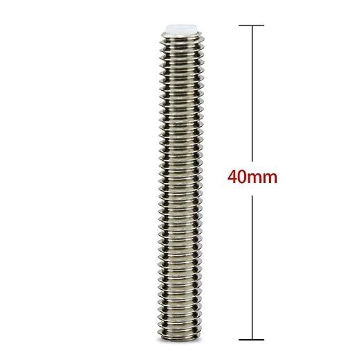 Aussel 5 piezas M6x40MM boquilla Garganta 3D extrusora de la ...