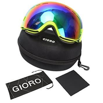 de9e01918e93 Snow Ski Goggles,Gioro Professional Snowboard / Snowmobile  Goggles,Anti-slip Adjustable Elastic Head Strap, ...