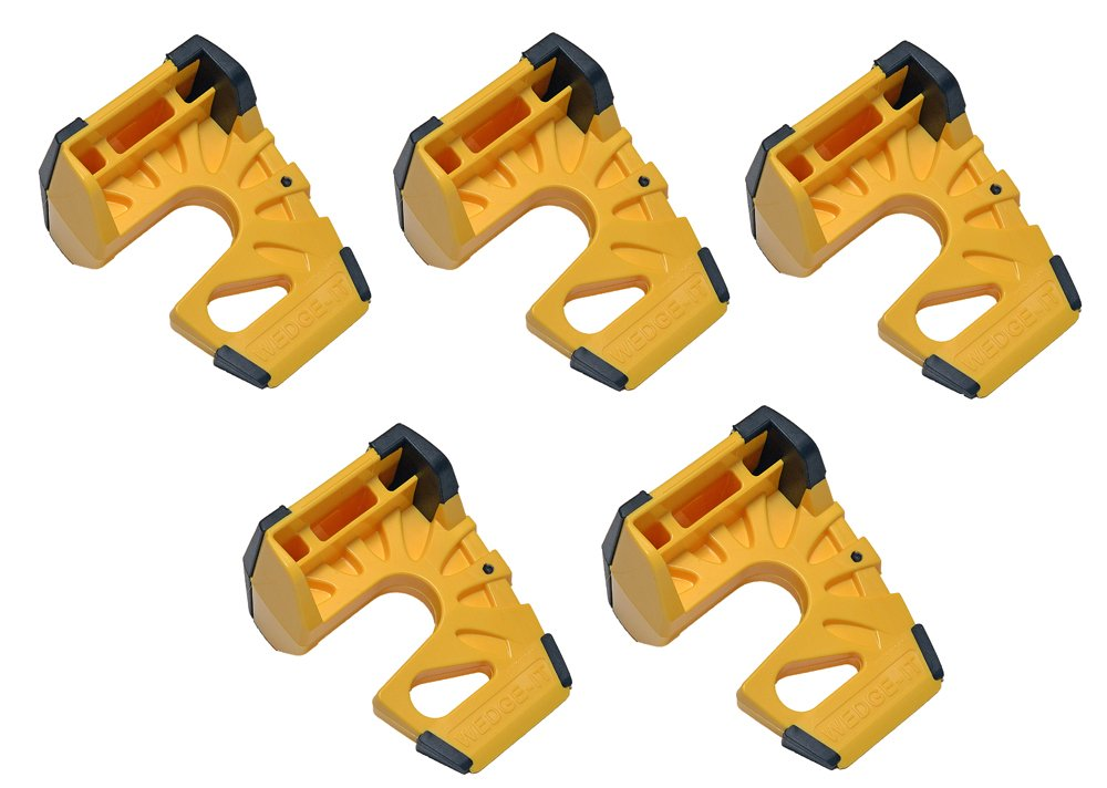 Wedge-It - The Ultimate Door Stop - Yellow (5 Pack)