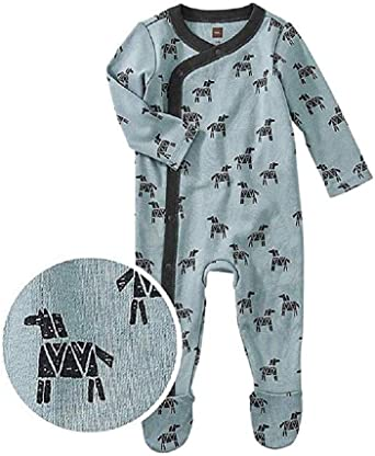 Tea Collection Footed Romper Foxes Multiple