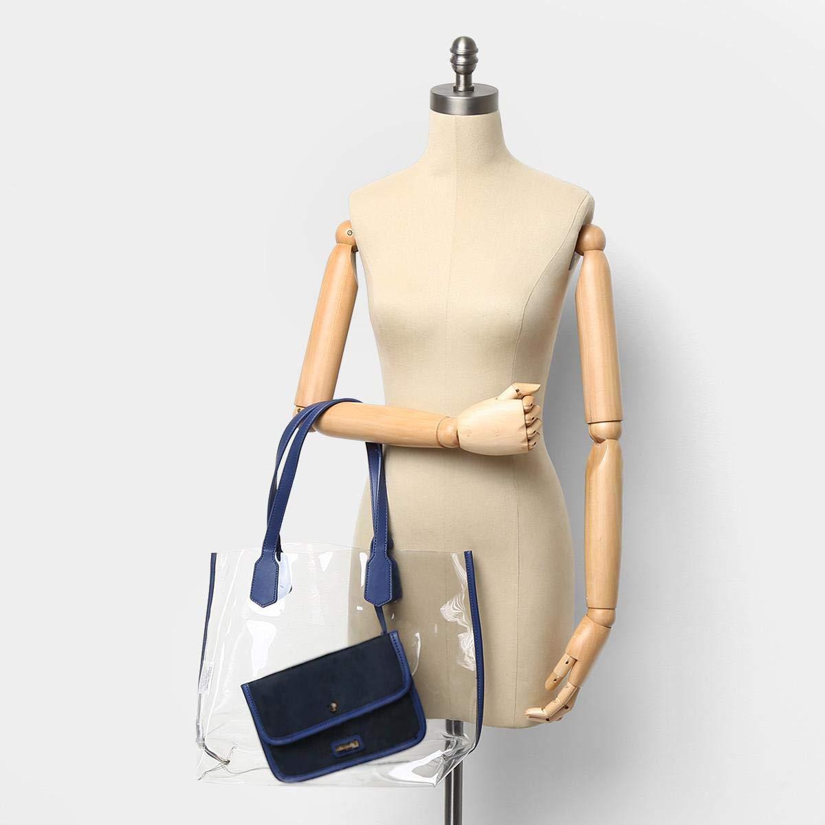 e8686bf6b Bolsa Shoestock Shopper Vinil Feminina - Azul - Único  Amazon.com.br   Amazon Moda