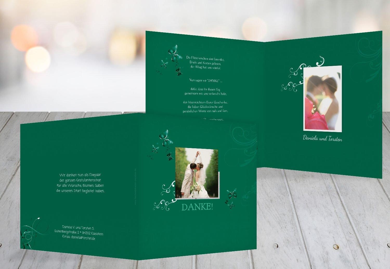 Kartenparadies Danksagung für Hochzeitsgeschenke Hochzeit Danke Butterfly, Hochwertige Danksagungskarte Hochzeitsglückwünsche Inklusive Umschläge   20 Karten - (Format  145x145 mm) Farbe  MattBlau B01NBX67XQ | Qualitätsprodukte  | Exq