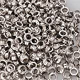2000 Pieces Top Quality 1/4'' #0 Grommets and Washers Nickel Eyelet Die Press Tool Ideal For Making Posters Tags Bags Curtains Belts Dresses Shoes