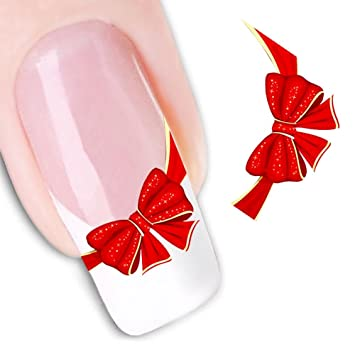 Amazon 3d Red Bow Ties Stickers Nail Art Decoration Tips Beauty