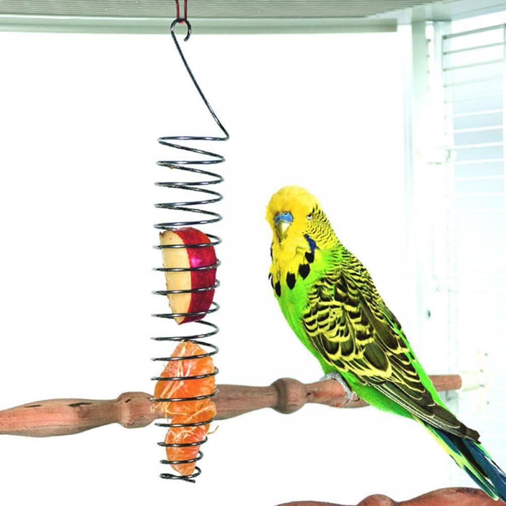 Pincho para frutas y verduras de acero inoxidable para pájaros, herramienta para alimentar a loros, periquitos, cacatúas, cesta de aperitivos
