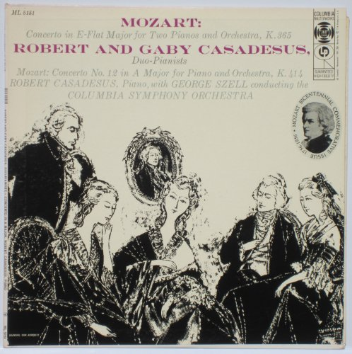 Ml Duo (Mozart: Concerto in E-flat Major for Two Pianos and Orchestra, K.365 - Robert and Gaby Cassadesus, Duo-pianists / Concerto No. 12 in a Major for Piano and Orchestra, K.414 - Robert Casadesus, Piano, George Szell, Columbia Symphony Orchestra)