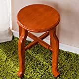 TangMengYun Solid Wood Round Stool Bamboo Art Simple Creative Solid Wood Stool 2844cm