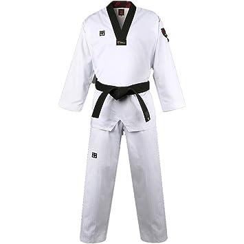 Mooto Corea Taekwondo Básico 4.5 Uniforme BS4.5 Dobok Cuello Negro ...