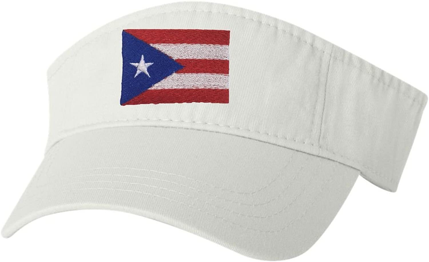 Adult Puerto Rico Flag Embroidered Visor Dad Hat
