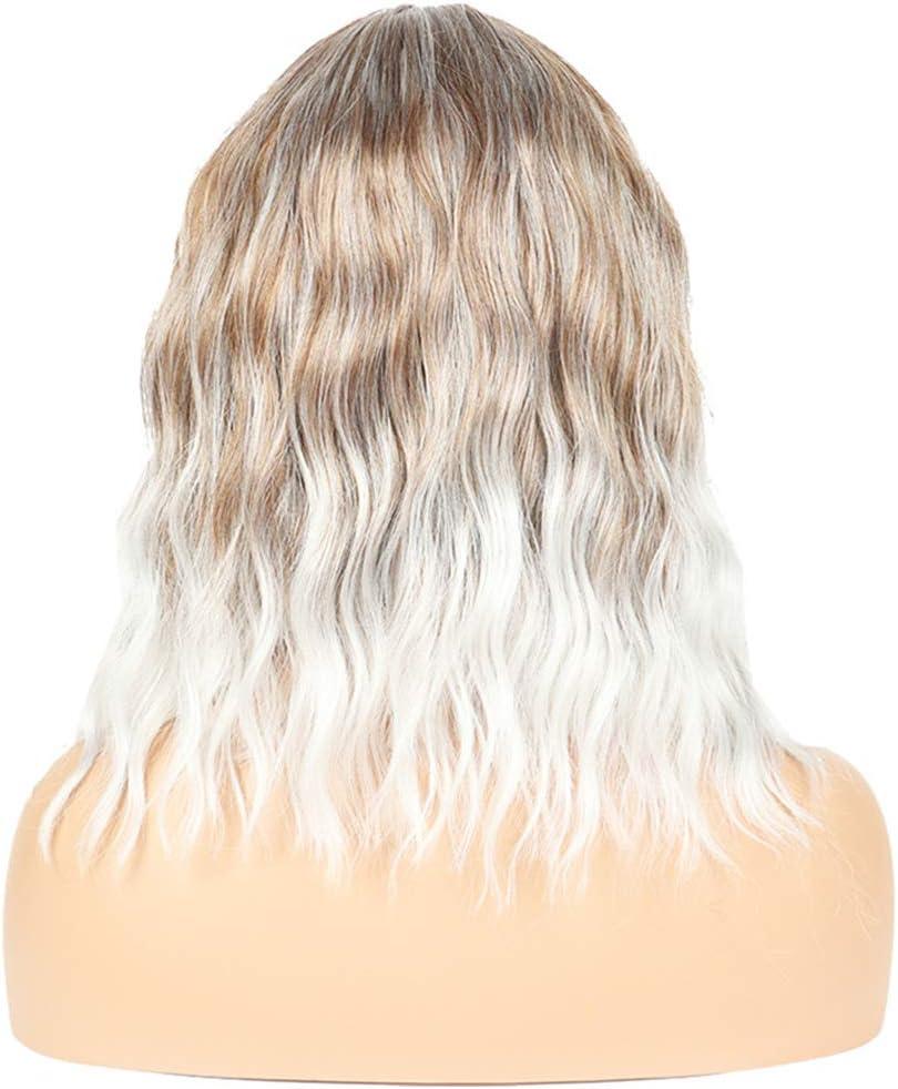 35 cm Short Bob Curly Wavy Wigs Ricci Parrucca Sintetici Corto Hair Wig Parrucca Halloween Costume Festa Parrucche FESHFEN Bob Parrucca Donna Corta