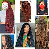 Leeven 18 Inch Nu Faux Locs Crochet Hair 21 Roots