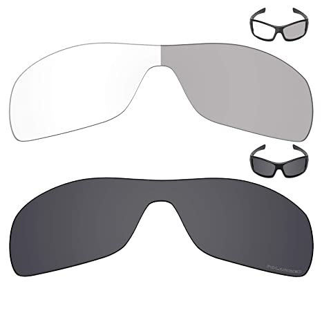 5a7fc58591172 Image Unavailable. Image not available for. Color  Mryok+ 2 Pair Replacement  Lenses for Oakley Antix Sunglass - Eclipse Grey Photochromic Stealth Black