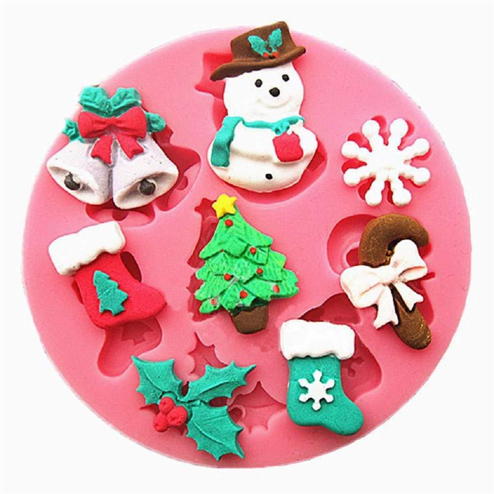 Flybloom Weihnachten Stil Schneemann Schneeflocke Form Silikon Formen DIY Schokolade Fondant Sugarcraft Plätzchenform Kuchen Dekor Backen Werkzeuge HeShengFactory