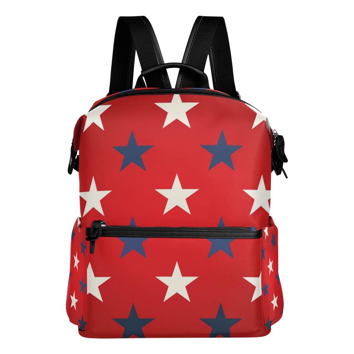 TIZORAX - Mochila Escolar, Blancas, diseño de Estrellas Blancas, Escolar, Color Azul aecdb3
