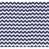 SheetWorld Fitted Portable/Mini Crib Sheet - Royal Blue Chevron Zigzag - Made In USA