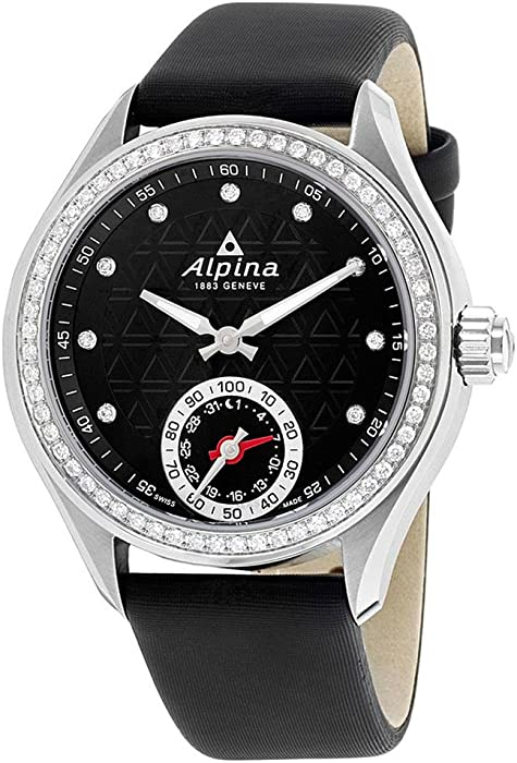 Amazon.com: Alpina Womens Analog Display Swiss Quartz Black ...