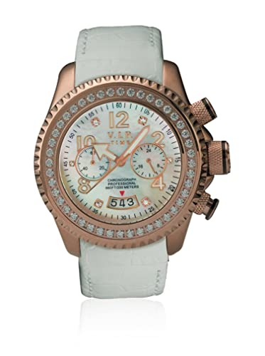 VIP TIME ITALY Reloj con Movimiento Cuarzo japonés Woman VP8002RG_RG 43 mm: Amazon.es: Relojes