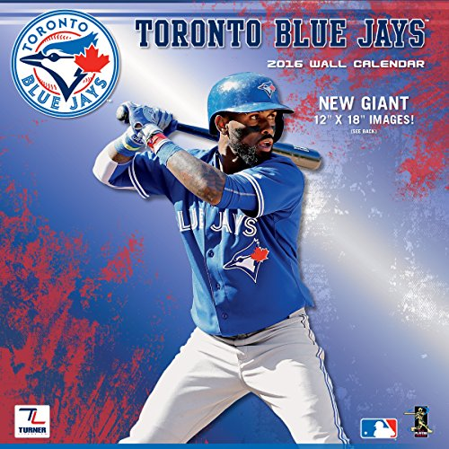 "Turner Toronto Blue Jays 2016 Team Wall Calendar, September 2015 - December 2016, 12 x 12"" (8011867)"