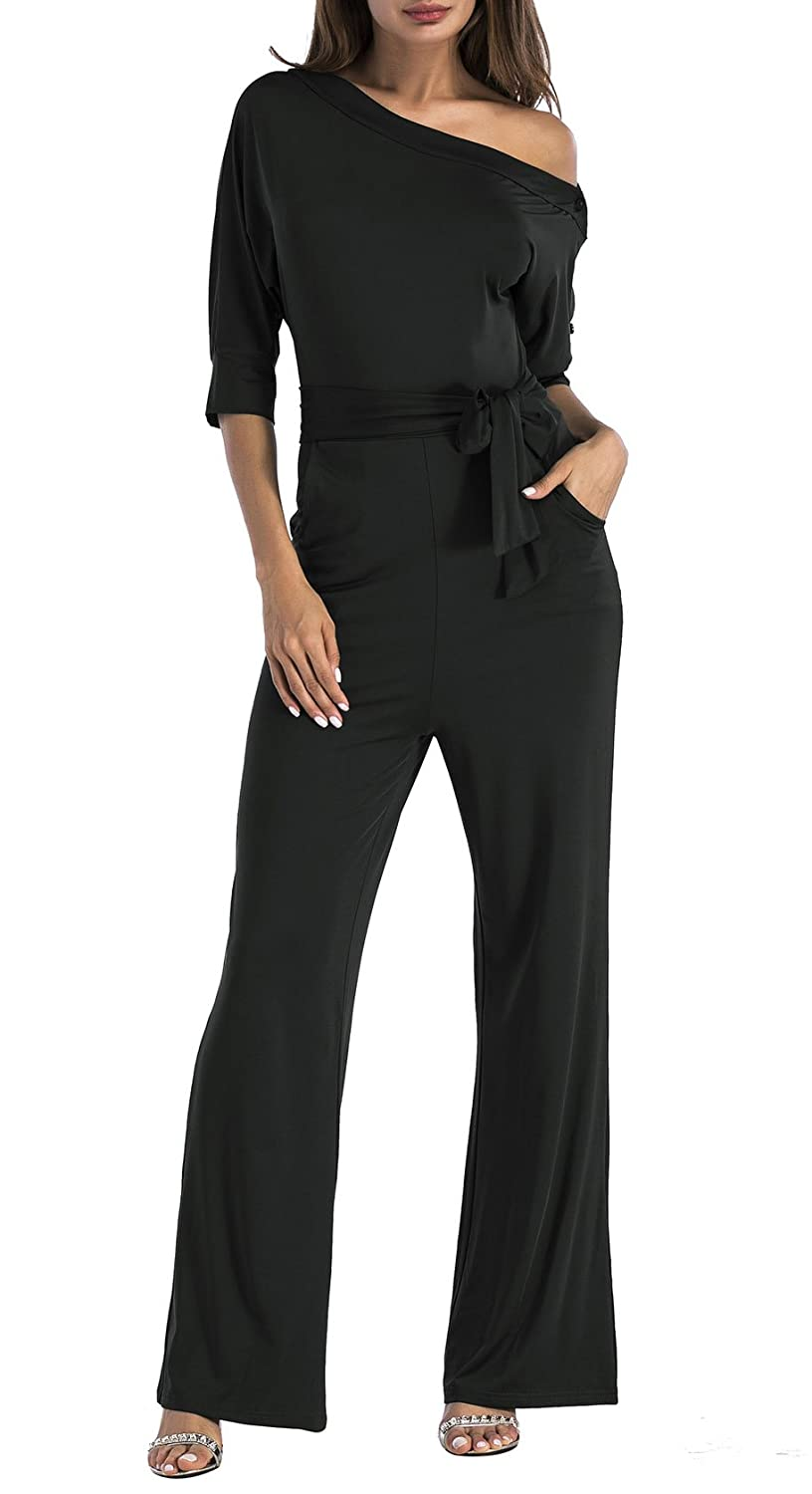 3f83a33dcac9 Top 10 wholesale One Shoulder Long Sleeve Jumpsuit - Chinabrands.com