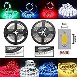 1M 60LEDS SMD 5630 Flexible LED Strip Home Decoration Counter Light Waterproof DC 12V (Random: Color)