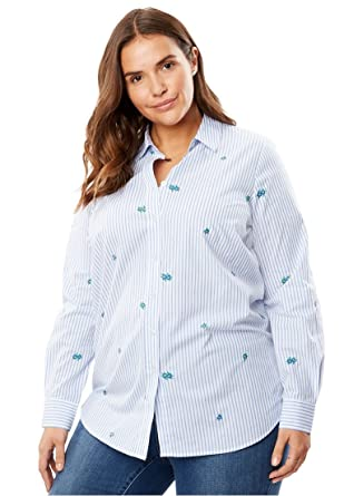 c772308fbe0ee Womens Plus Size Button-Front Jacket Woman Within