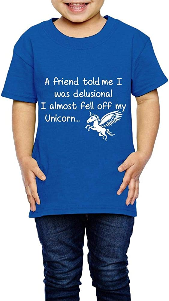 Delusional Unicorn Gifts Funny 2-6 Years Old Children Short-Sleeved Tshirt