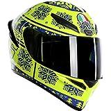 AGV Unisex-Adult Full Face K-1 Winter Test 2015 Motorcycle Helmet (Yellow/Blue, X-Large)