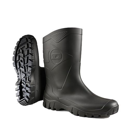 Dunlop Protective DEE, Botas de Goma de Trabajo Unisex Adulto, Negro (Black 002