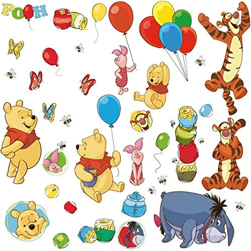 Decals Wall Appliques (RoomMates RMK1498SCS Wall Decal, Pooh & Friends)