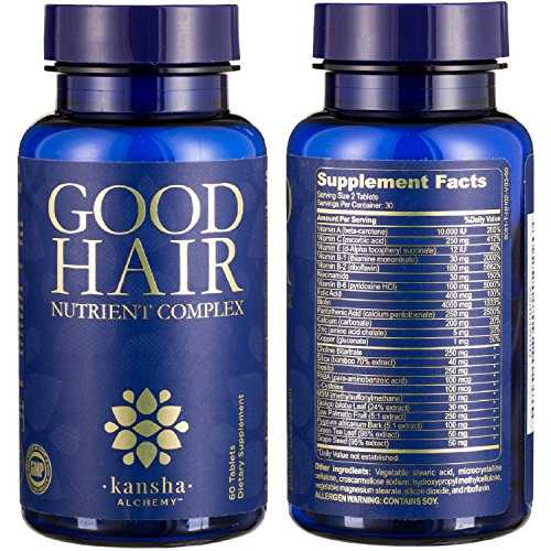 Hair Growth Vitamins with Biotin, DHT Blocker, 20+ Minerals/Herbs for a Longer, Stronger, Healthier Hair, Men/Women, All Hair Types, 1-Month Supply