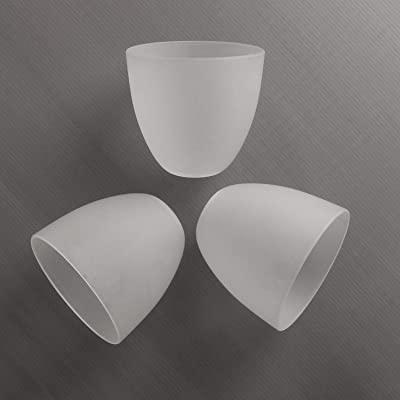 Buy Giluta Bell Shaped Glass Shade Frosted Style Glass Shades Replacement For Ceiling Fan Light Wall Light And Pendant Lipless With 1 5 8 Inch Fitter Opening 3 Pack Online In Indonesia B087t2vbwv