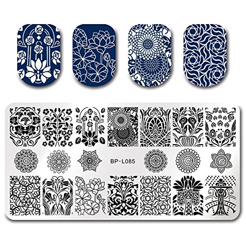 BORN PRETTY 7Pcs Nail Art Stamping Template Flower Fruit Summer Manicure Print DIY Image Plate with Stamper Kit by Born Pretty (Image #2)