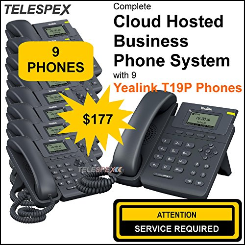 ***LIMITED TIME OFFER - BUY 3 VOIP PHONES AND GET 6 FREE - TELESPEX Cloud Business Phone System with 9 Phones- (800) ()