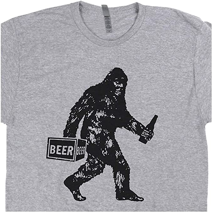 65b287ed1 S - Bigfoot T Shirt Drinking Beer Funny Sasquatch Yeti Dive Bar Cool  Vintage Famous Redneck
