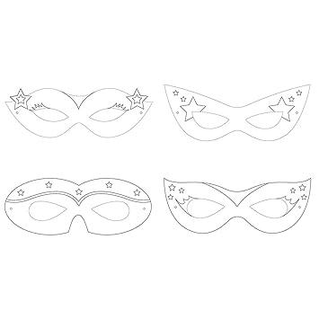 style moderne chaussures pour pas cher mieux choisir Generique - 12 Masques à colorier Super-héros Fille: Amazon ...