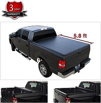"Blk Bed Soft Tri-Fold Tonneau Cover For 04-07 Silverado//Sierra 1500 69/"" 5.8/'"
