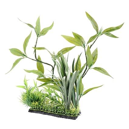 Sharplace Planta de Terrario de Reptiles Complimentos Pecera Acuario Plantado Fácilmente Cómodo - Estilo 2