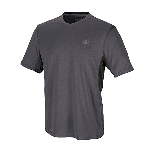 39bfa263 Image Unavailable. Image not available for. Color: Champion T7298 PowerTrain  Men's Heather V-Neck T-Shirt ...