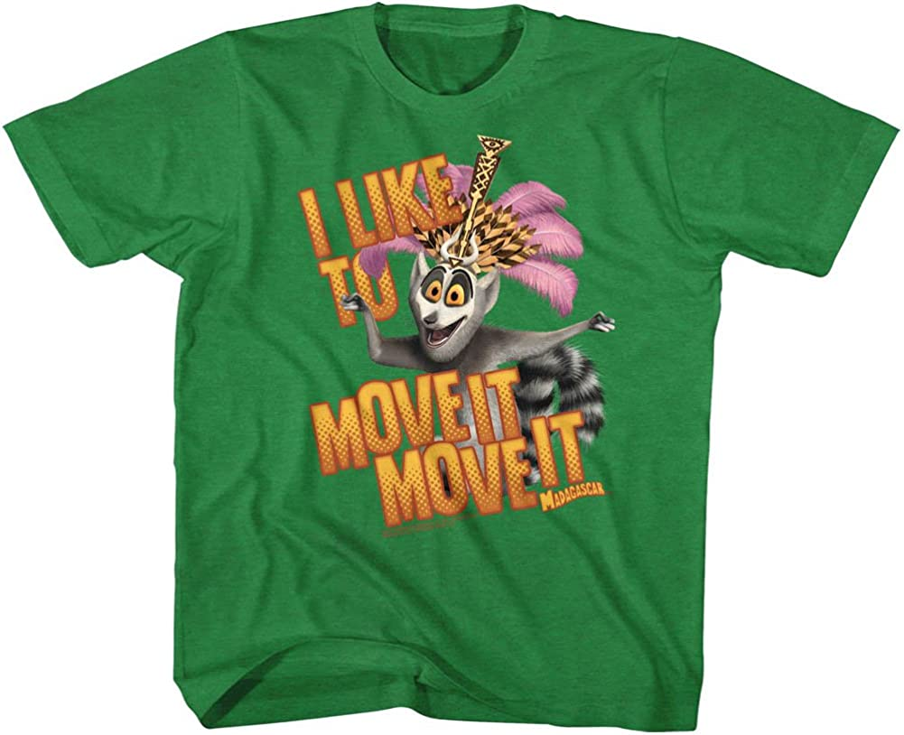 Amazon Com Madagascar Children S Movie Mov Ite Move It Kelly Heather Toddler Little Boys T Shirt Tee Clothing