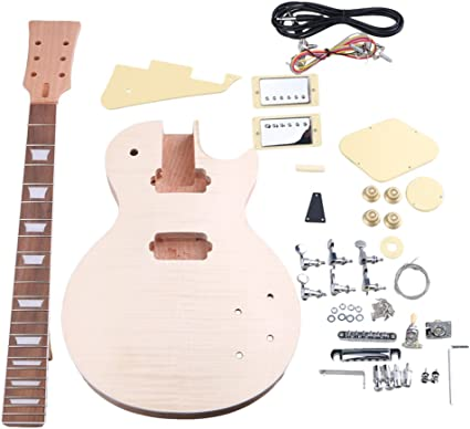yibuy caoba DIY LP ¡ªstandard guitarra eléctrica cuerpo cuello ...