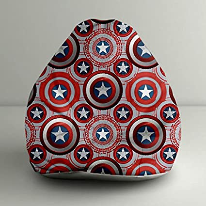 Swell Orka Disney Captain America Shield Digital Printed Bean Pdpeps Interior Chair Design Pdpepsorg