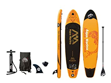 387bc989a1ae41 Aqua Marina sup BT-88883 Fusion Inflatable Stand-up Paddle Board, Black,