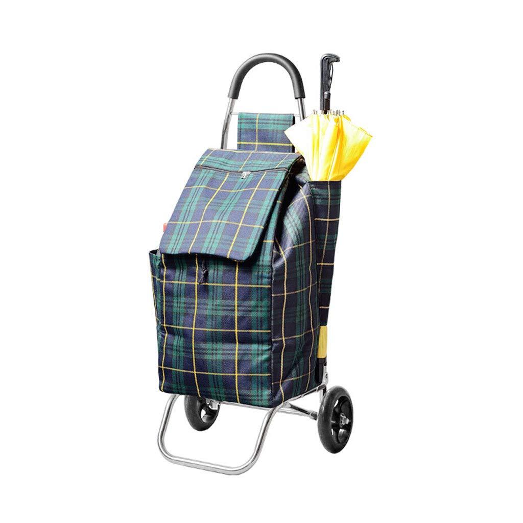 ショッピングカートトロリー折り畳み式ショッピングトロリーショッピングバッグ荷物カート保管袋軽量ポータブルショッピングカート45リットル B07KWVXKNL